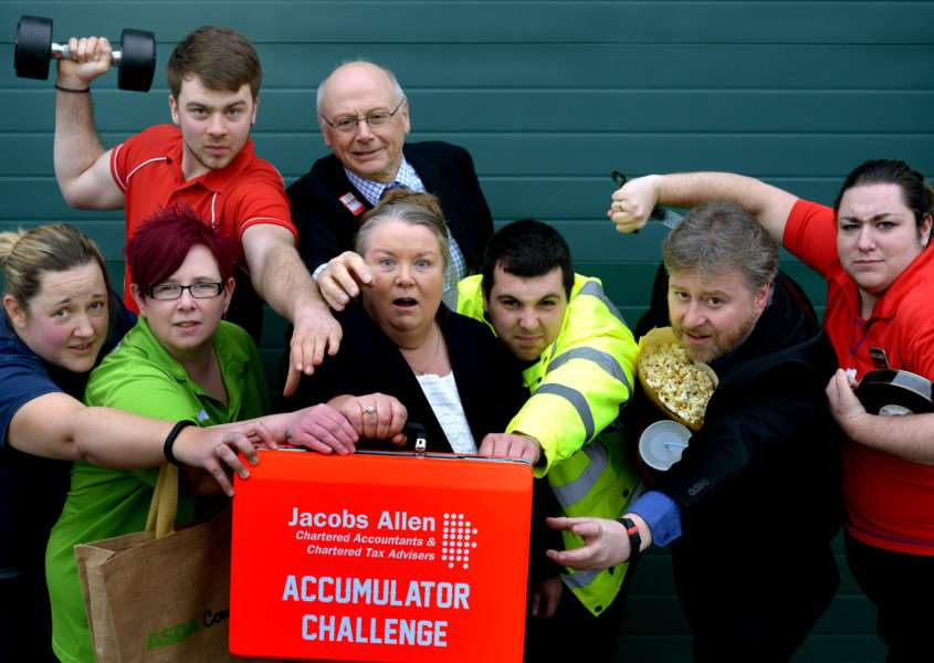 2015 St Nicholas Hospice Care Accumulator Challenge launch. ''Pictures Andy Abbott