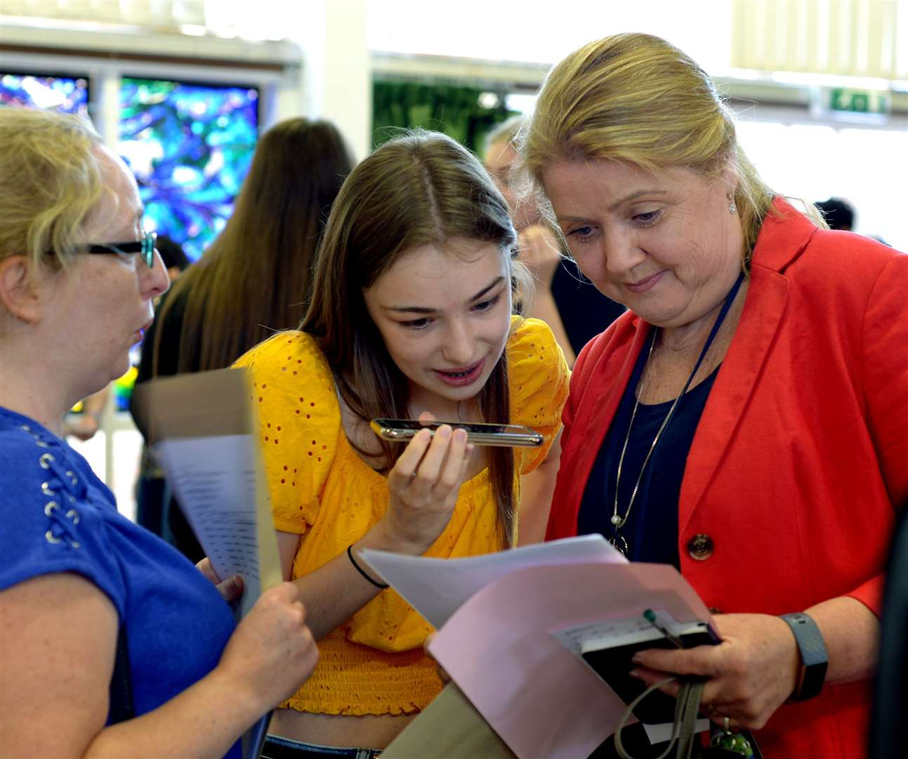 Students at St Benedicts RC Upper School receive their GCSE results.PICTURE: Andy Abbott (15600466)