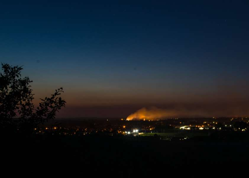 Dan Hume captured this view of the Sudbury fire from the top of Kedington Hill in Little Cornard.