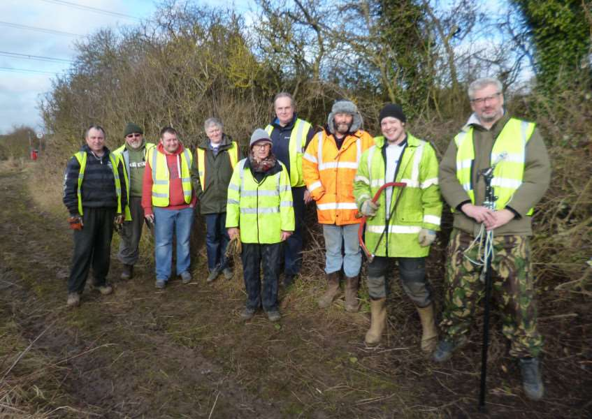 The All Terrain UK volunteers who worked on the Linton green lane