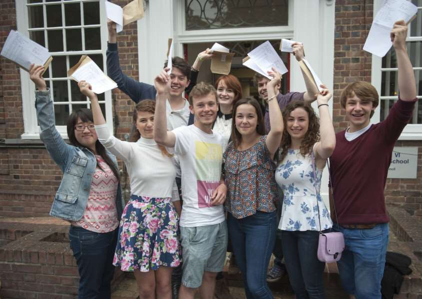 King Edward VI School A Level Results''Picture Mark Westley ANL-150813-115129009