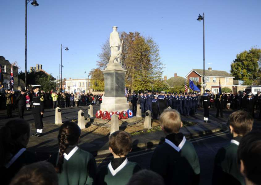 A 'Remembrance Sunday moment in ''Mildenhall