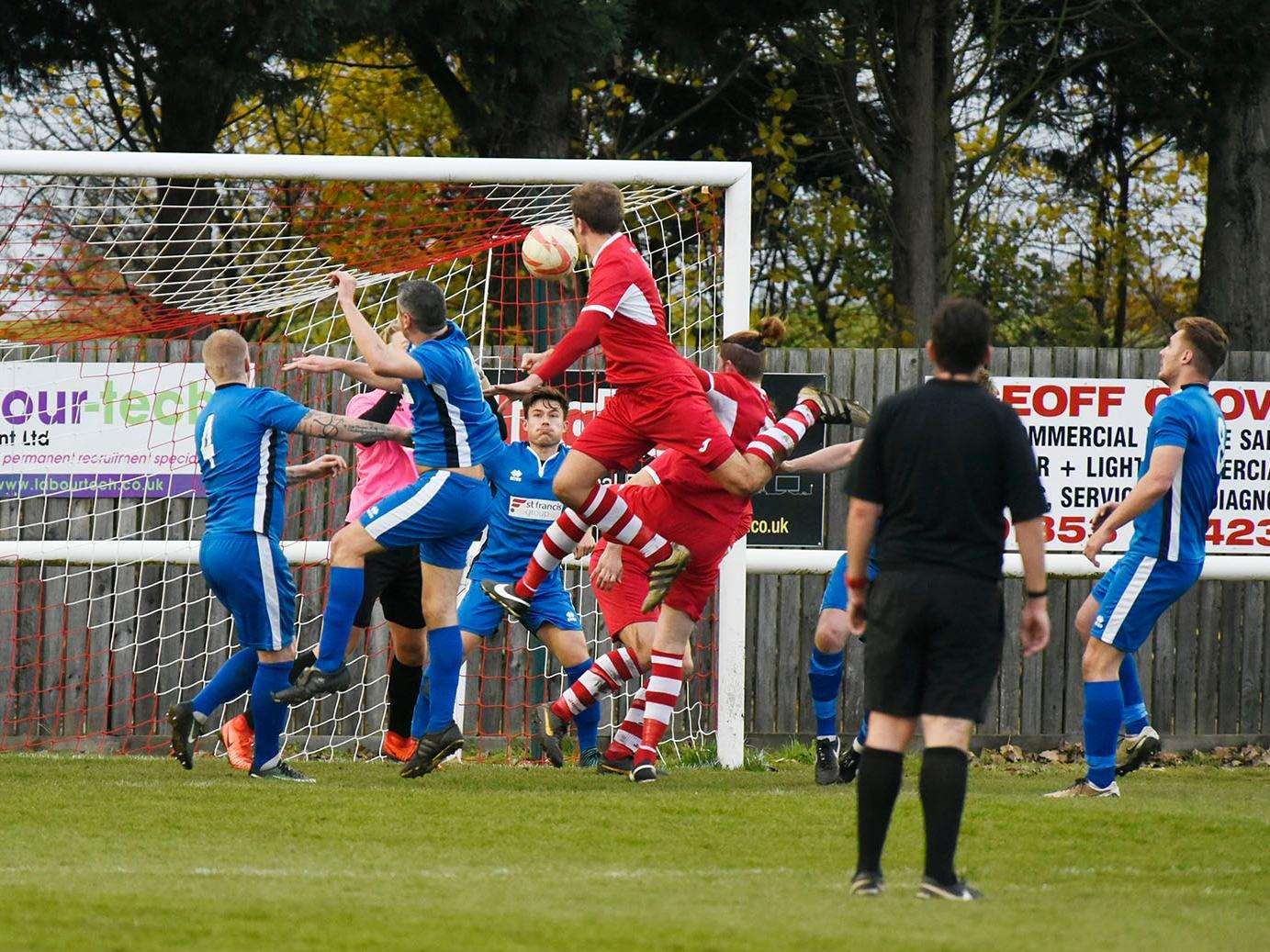 James Seymour scored for Ely in their 2-1 home win from this effort Picture: Mark Westley