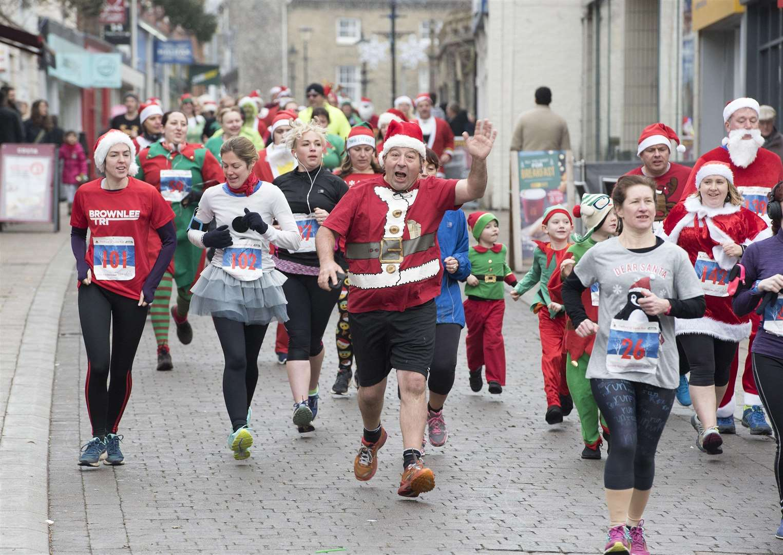 The Thetford 5km Santa Run in 2017