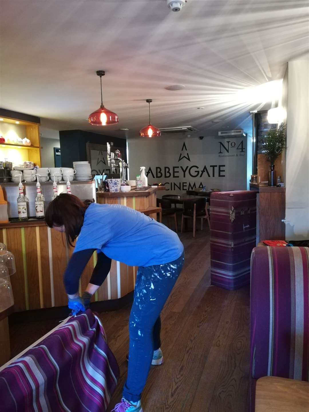 Work going on behind the scenes at Abbeygate during the lockdown (33817988)