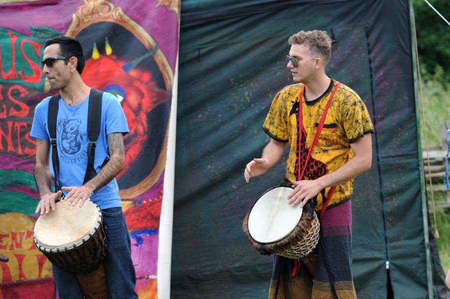 West Stow Dragon Festival 2016''Pictured: West Stow Drummers ANL-160626-200948009