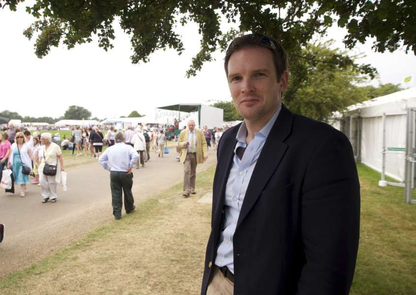 Ipswich, Suffolk. Day two of the Suffolk Show at Trinity Park in Ipswich - Dr Dan Poulter MP at the second day of the Suffolk Show''Photograph by Mark Bullimore. Credit Mandatory.t: 07813 799 343. e: mail@eaps.org.uk. w: http://www.eaps.org.uk ENGANL00120120509113544