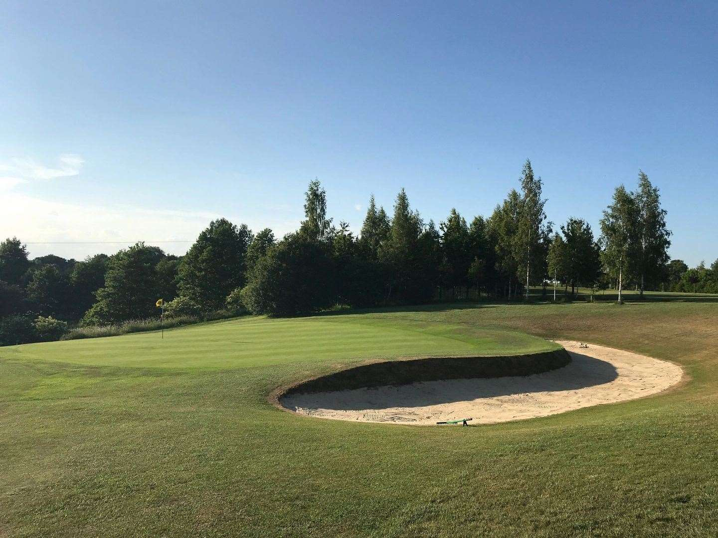 The bunker and green at the eighth hole at Haverhill Golf Club