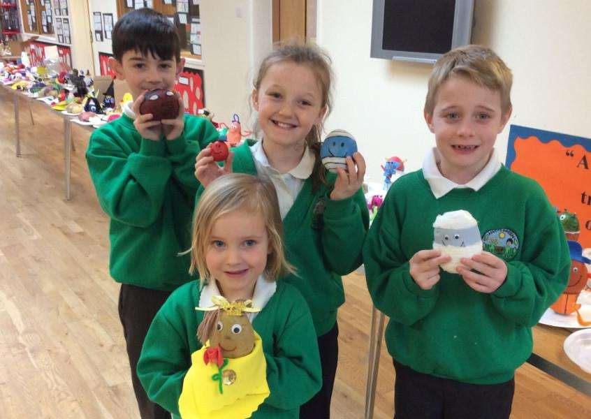 Pupils at Abbots Green Community Primary School transformed potatos into their fictional characters to celebrate World Book Day 2018