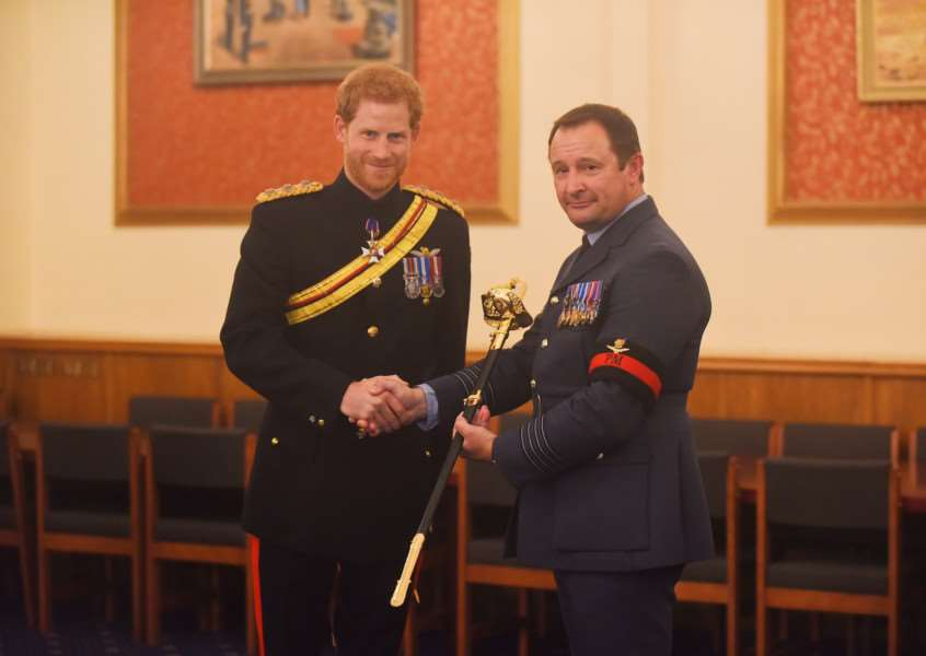 At RAF Honington, HRH Prince Henry of Wales awarded the Firmin Peace Sword of Peace to the RAF Police. Picture: Ian Burt