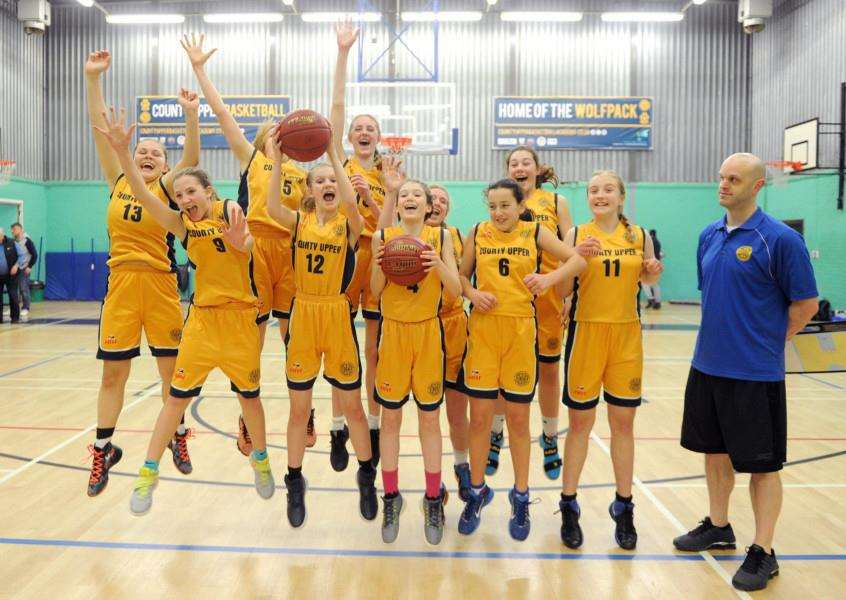 ACADEMY SUCCESS: County Upper U14 girls won the 2016/17 title and some players stepped up to this year's U16 squad Picture: Mecha Morton