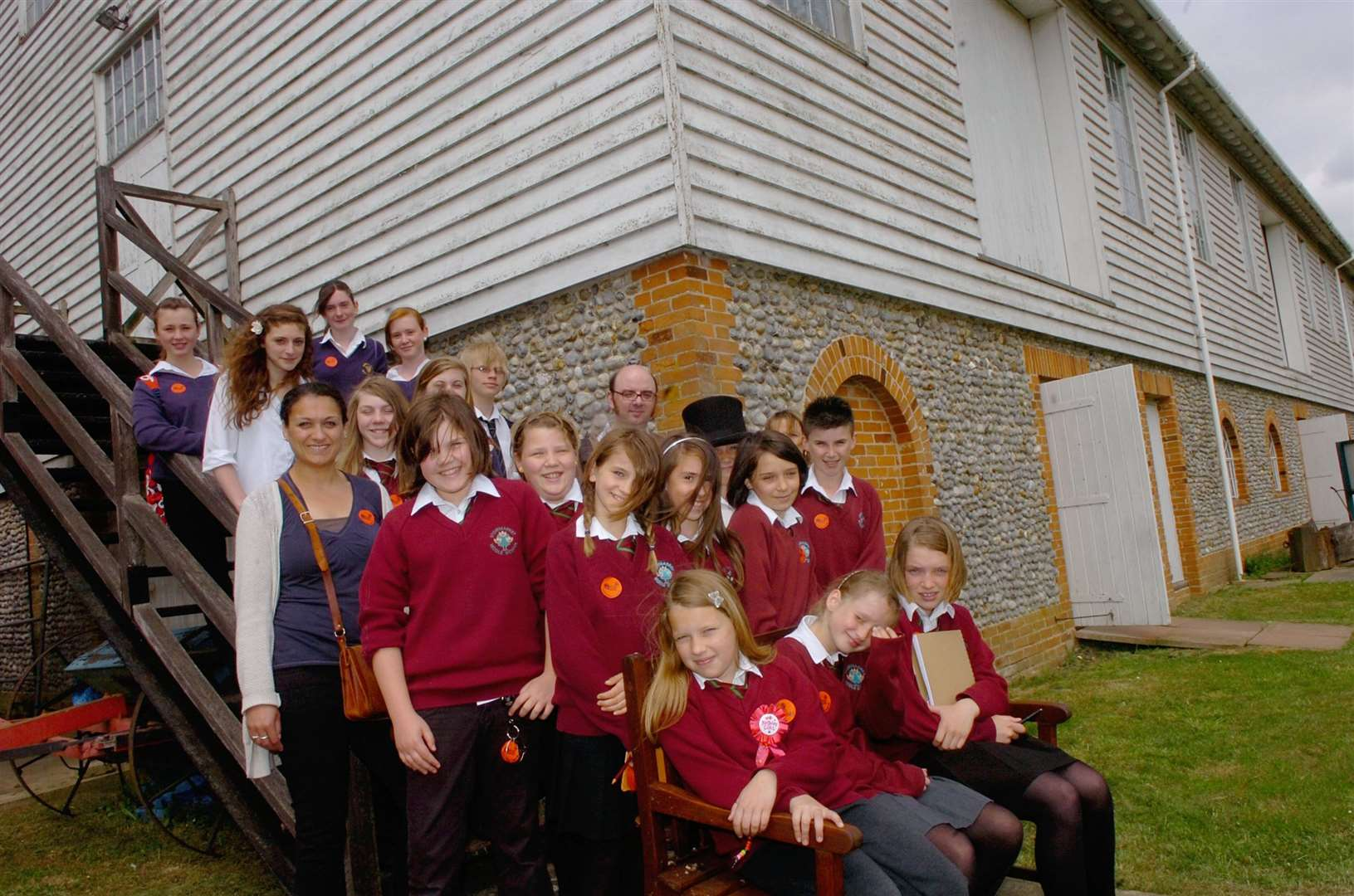 Students at the former Stowmarket Middle School