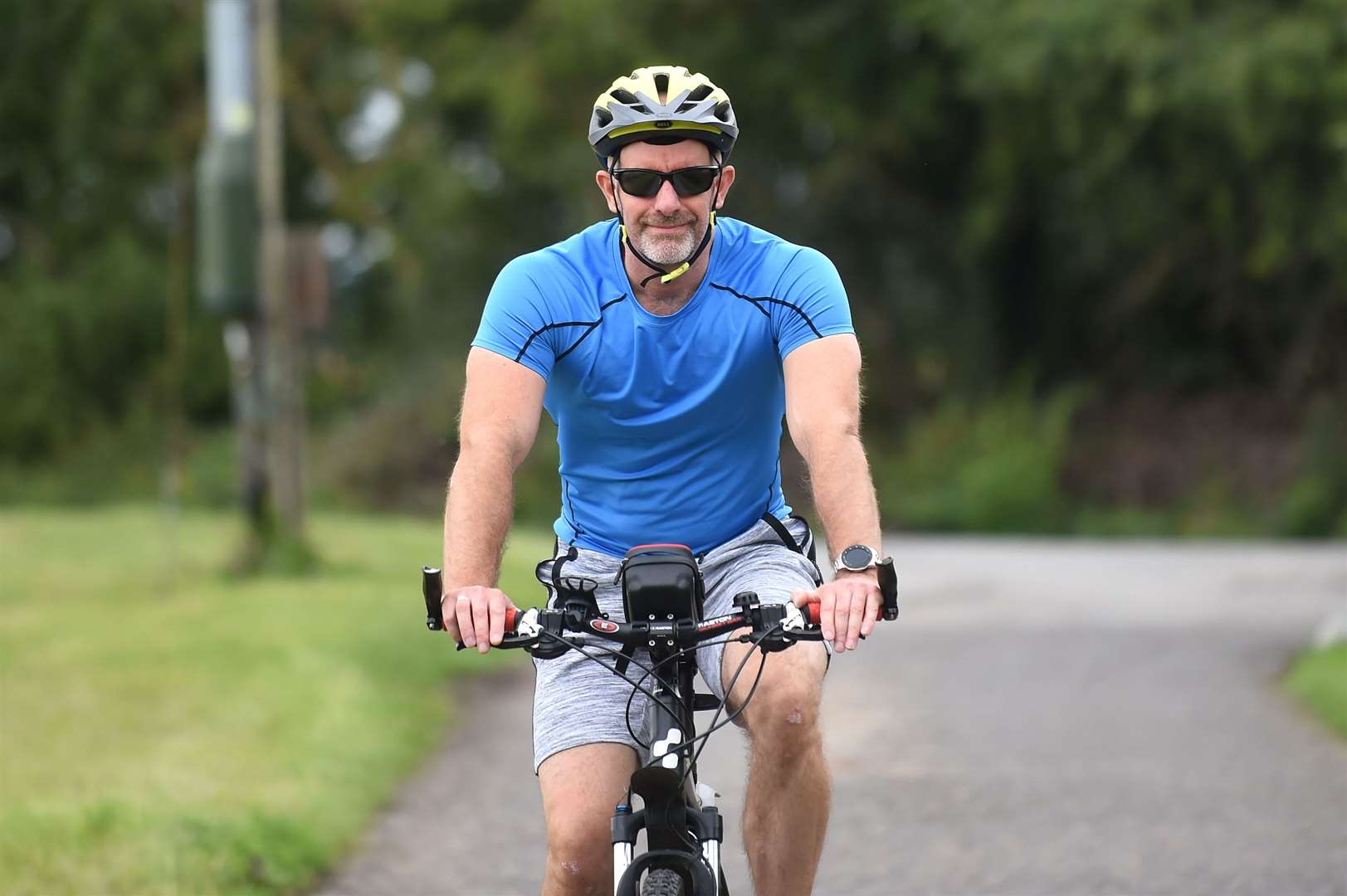 Mark Turnbull is taking part in a 745-mile cycle challenge to raise funds for Alzheimers Research..He is aiming to cycle 14 miles each day....PICTURE: Mecha Morton.... (38476908)