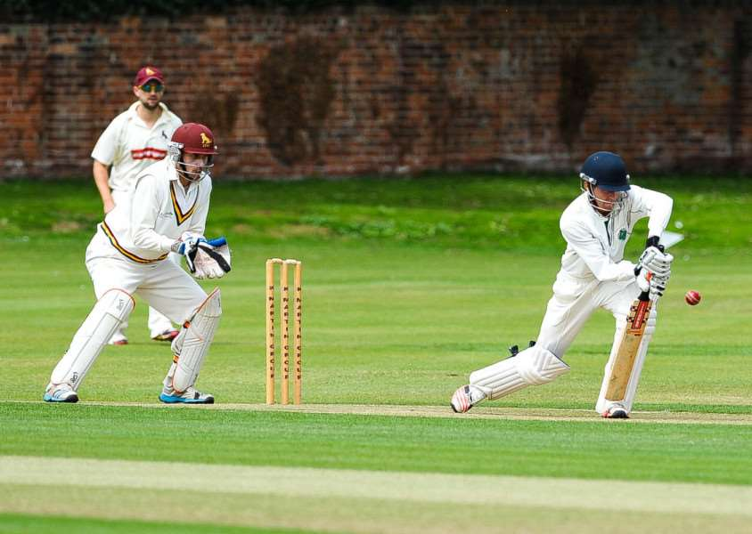 CLASSIC CONTEST: Match action from Sudbury's one wicket victory over local rivals Halstead, where the Talbots finished with a winning score of 270-9