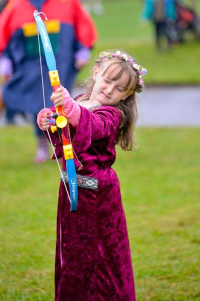 Magna Carta Festival at Clare Country Park. Medieval family, Jenny, Lee, Sam (7) and Joseph (4) Doherty. ANL-150614-164847009
