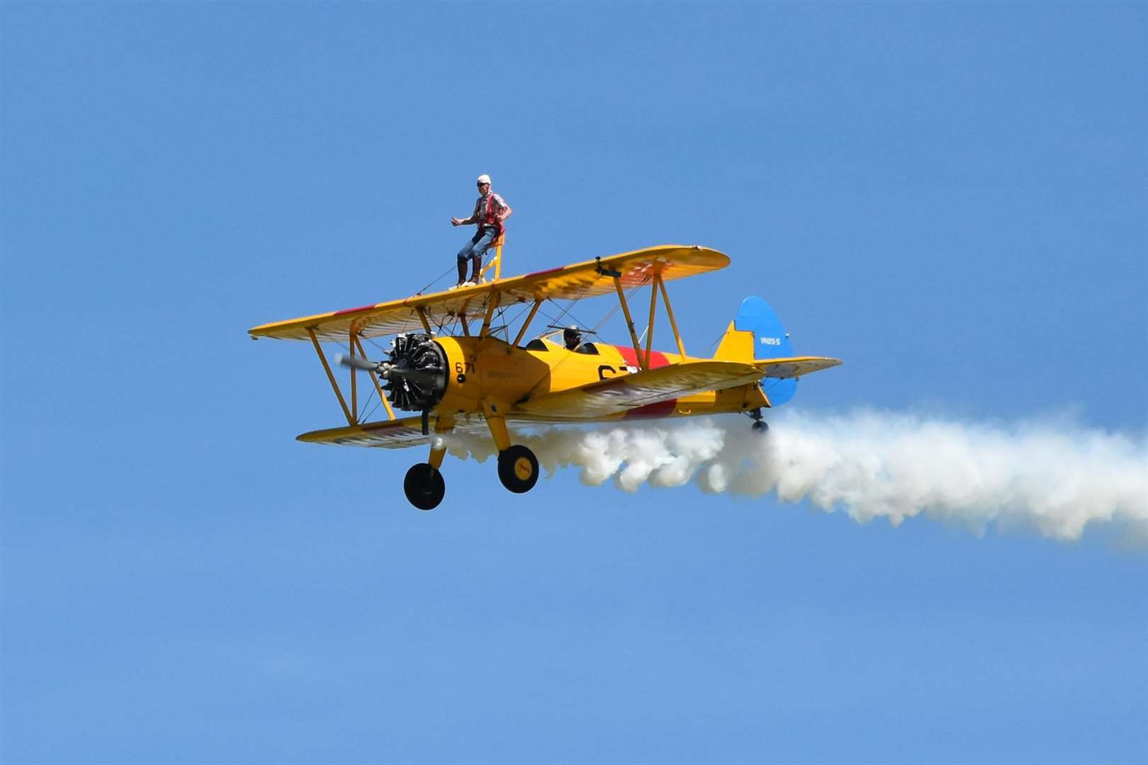 Malcolm Sykes, 79, did a sponsored wing-walk in Selby to raise money for St Nicholas Hospice Care. (2757194)