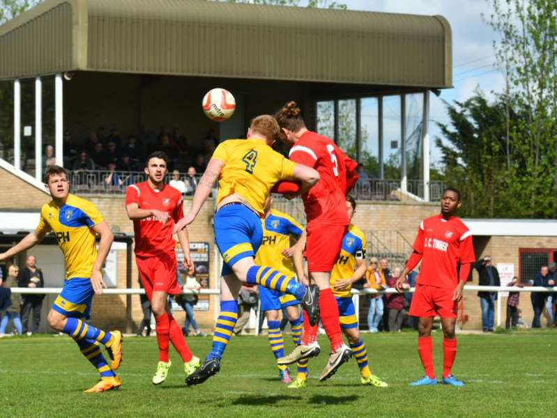 Ely City 2 Newmarket Town 3 - Match action from The Unwin Ground Picture: Mark Bullimore