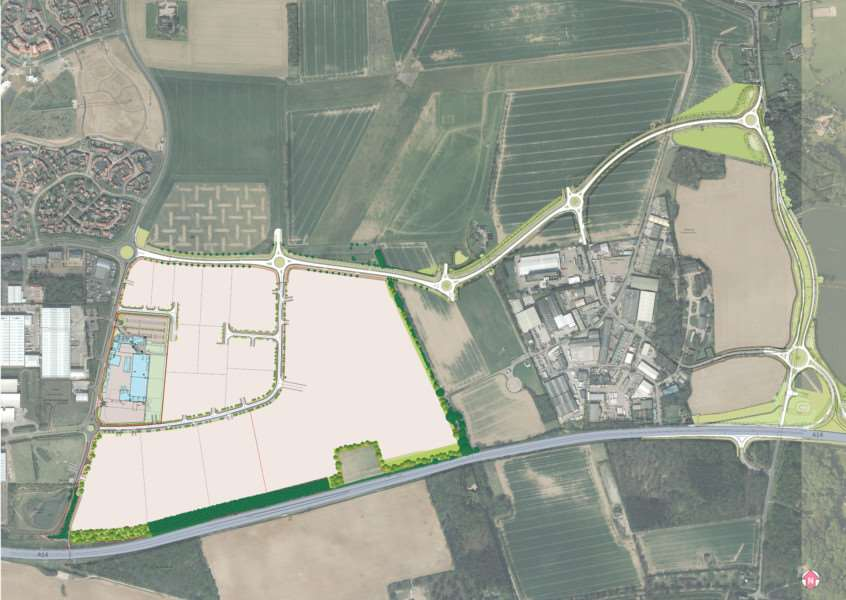 Outline planning consent has been granted for the 114-acre Suffolk Business Park in Bury St Edmunds
