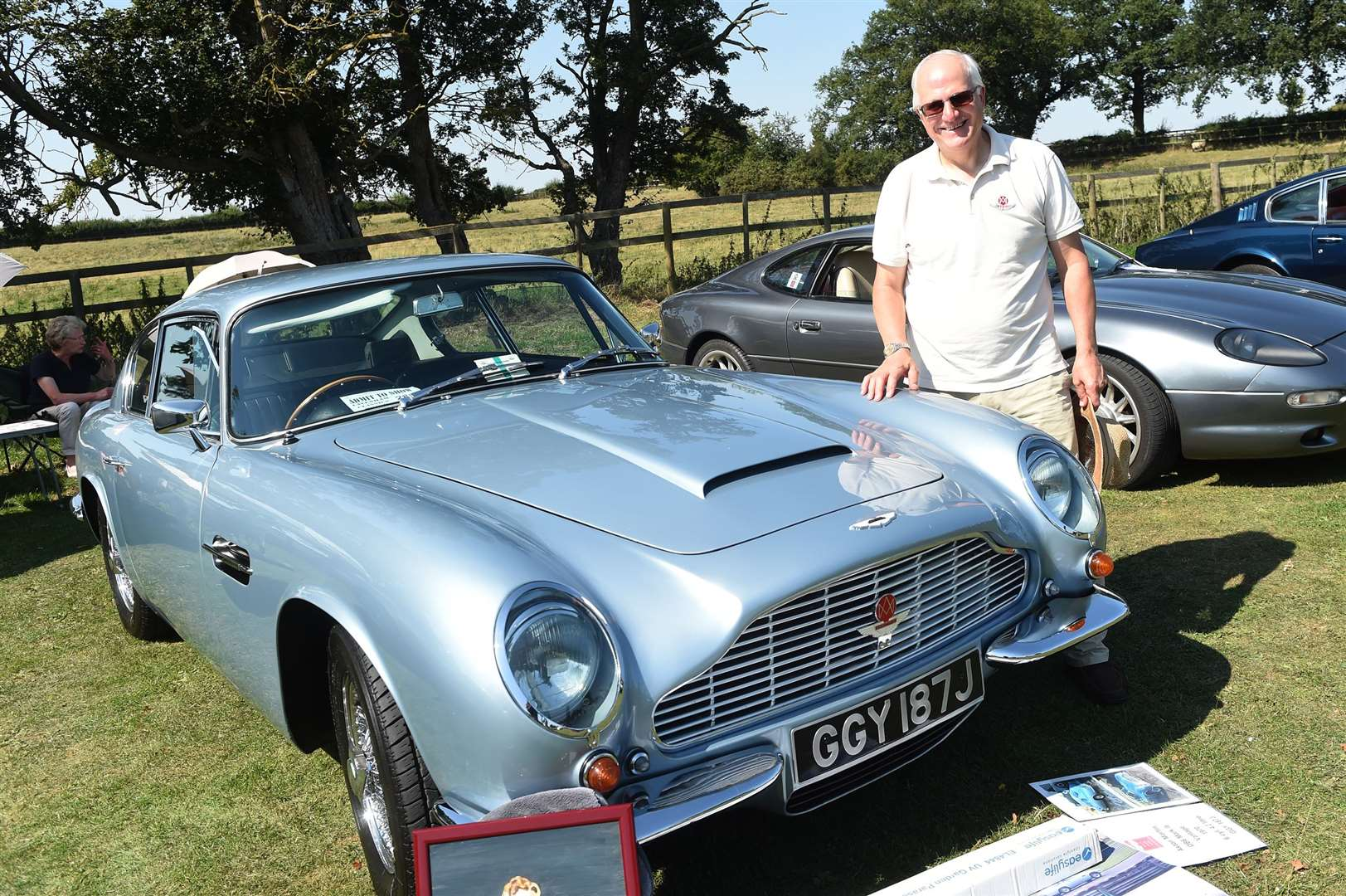 Colin Palmer at the show with his 1970 Aston Martin DB6 MK 2