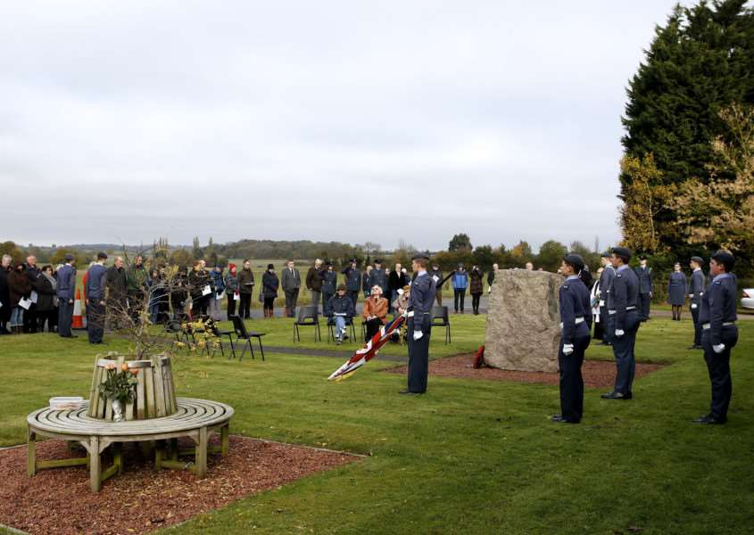 Remembrance Day Service at RAF Wratting Common. ''Picture: MARK BULLIMORE ANL-161113-204114009
