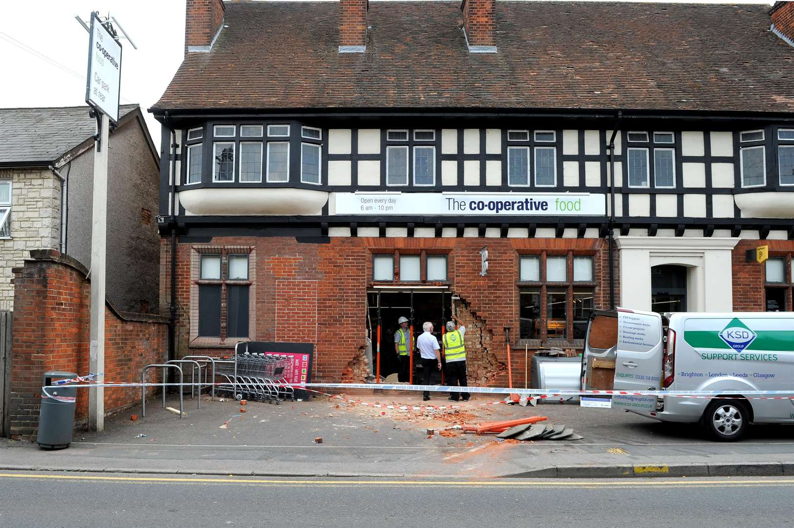 The Co-operative in Halstead was ram raided on Monday night.....PICTURE: Mecha Morton. .. (3490478)