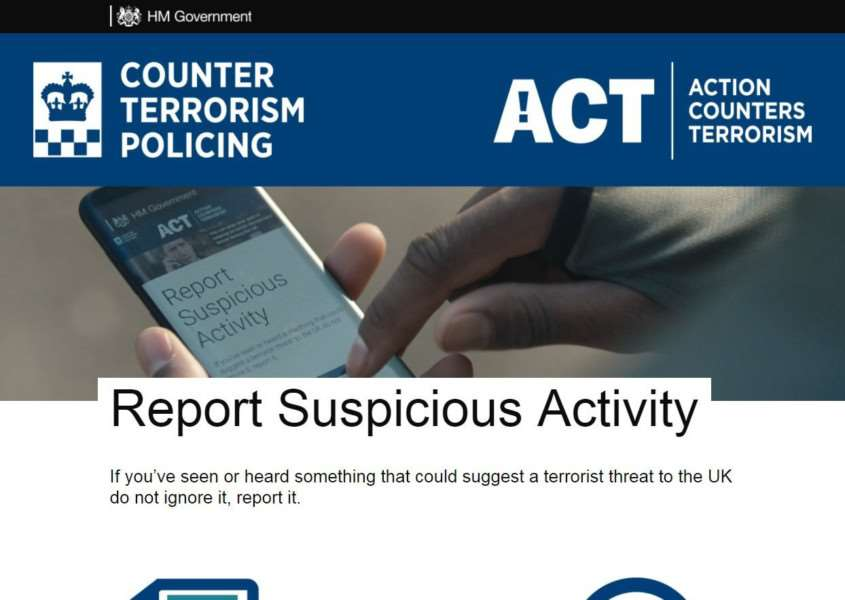 You can report suspicious activity on the ACT website