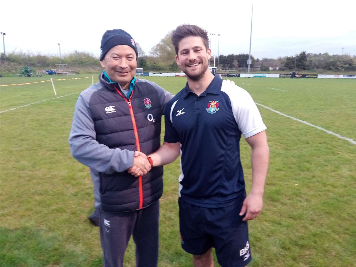 Sudbury Rugby Club Eddie Jones visit with Ben ScullyPicture: Russell Claydon. (9868995)