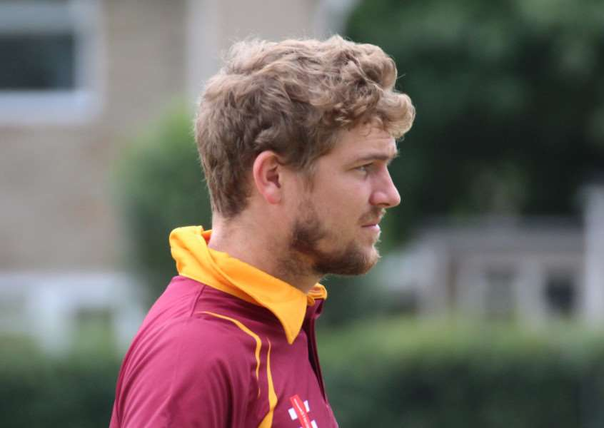 CENTURION: Ben Shepperson, pictured playing for Suffolk in the recent Unicorns East T20 Tournament at Bury St Edmunds