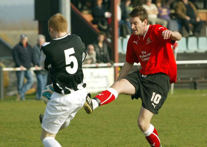 NEW SIGNING: A youthful Danny Smy pictured in action during his Needham Market days Picture: Richard Marsham