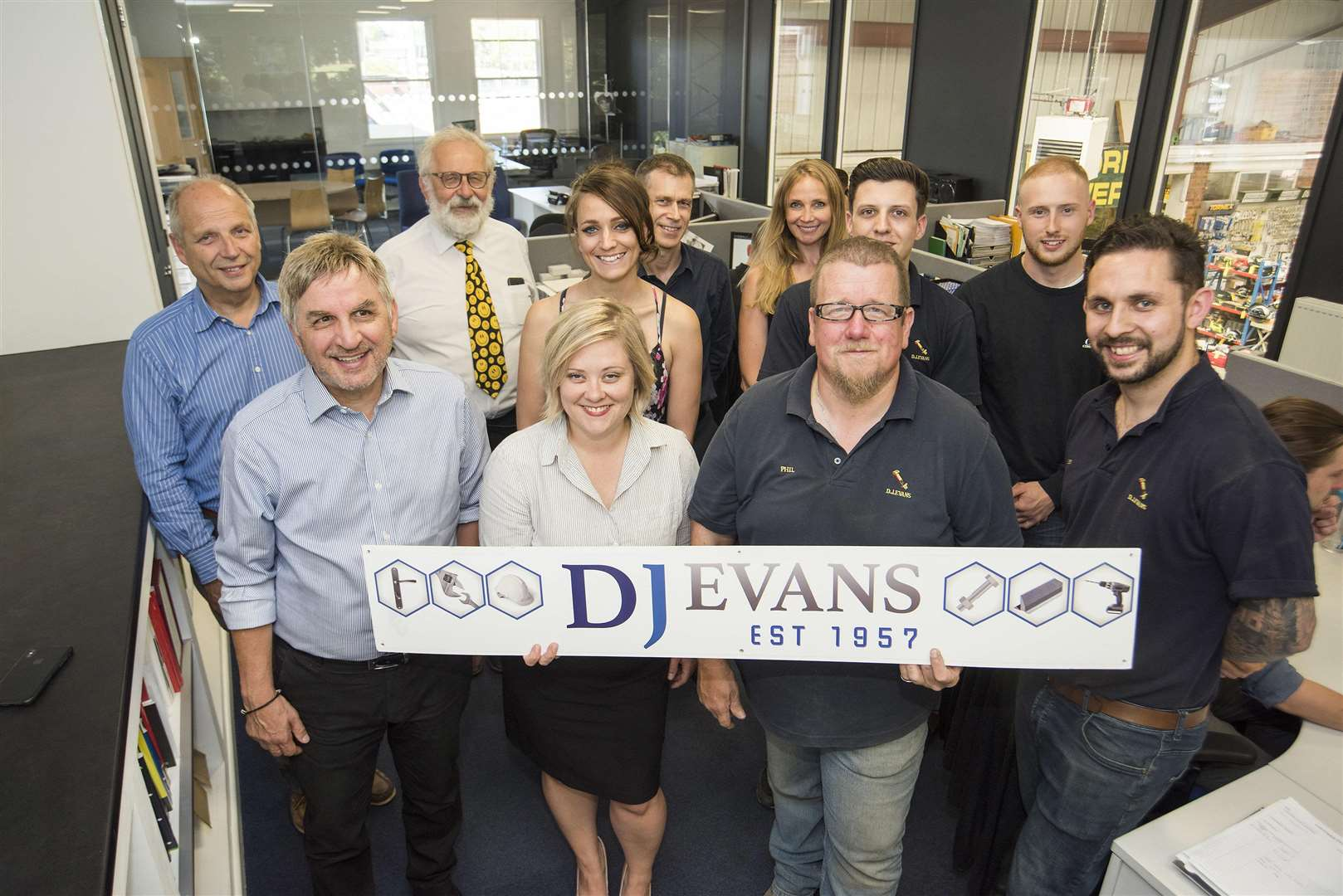 Staff at DJ Evans Ltd, in St Botolph's Ln, Bury St Edmunds. Picture: Mark Westley.