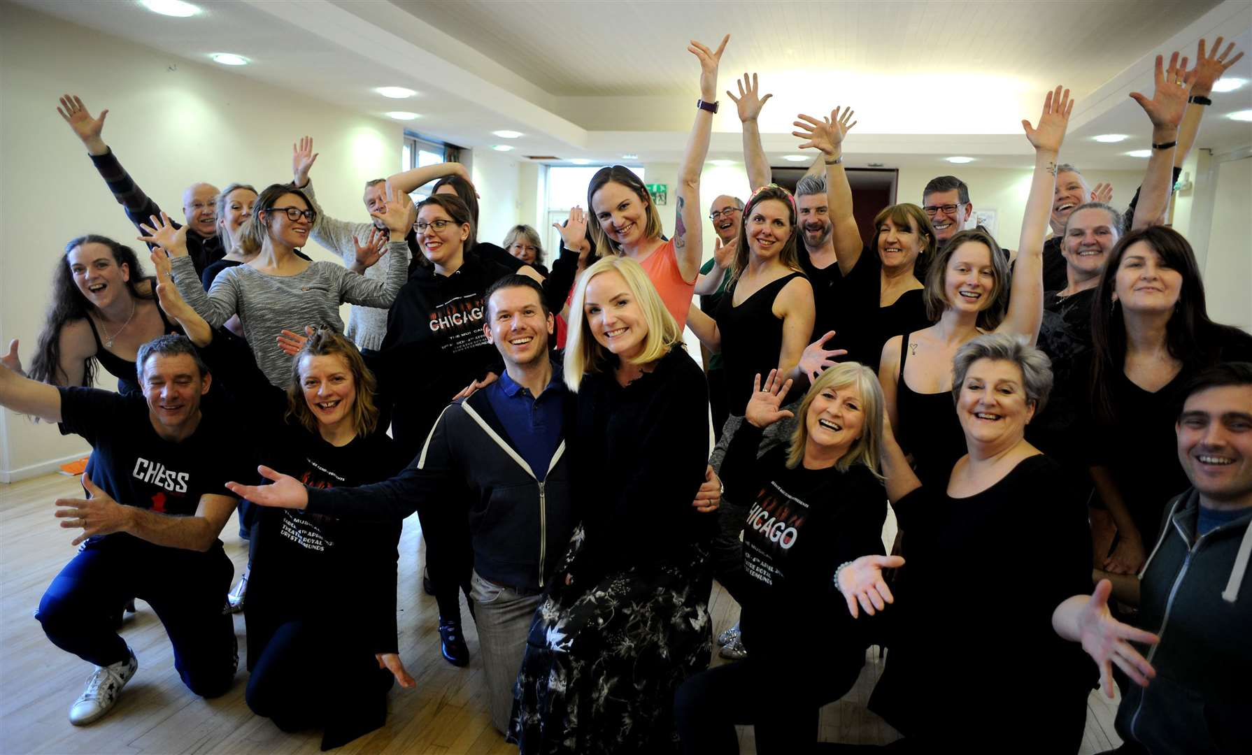 West End star Kerry Ellis visits Irving Stage Company rehearsals for Chicago, at the Theatre Royal from March 31-April 4. Picture by Andy Abbott. (31704466)