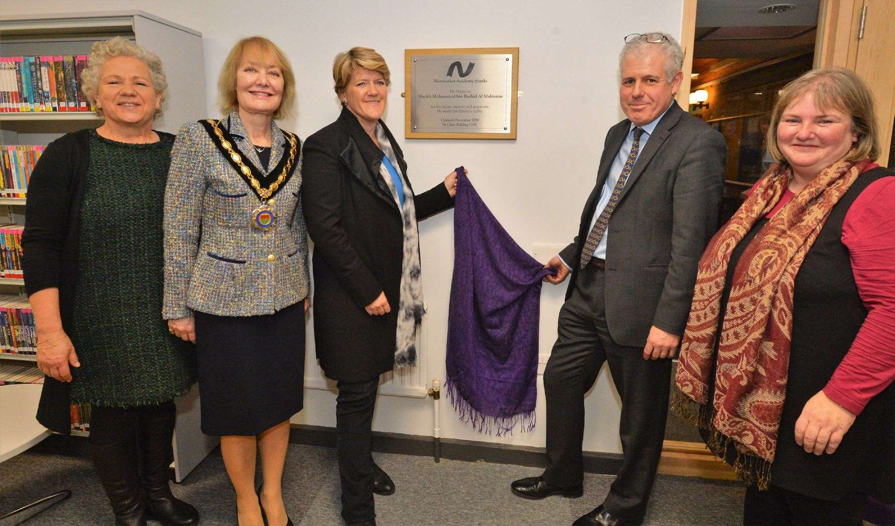 Clare Balding opens Newmarket Academy's state-of-the art new library (24980837)