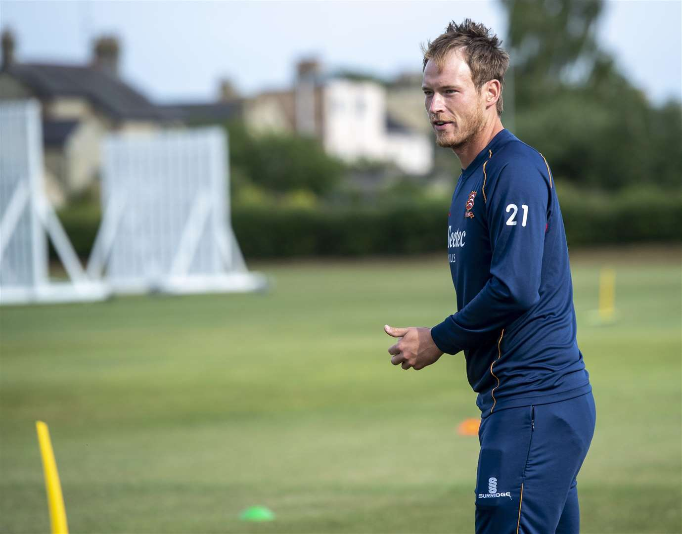 Free coaching session with Middlesex and England batsman Tom Westley at Sawston & Babraham Cricket Club. Picture: Keith Heppell. (7583100)