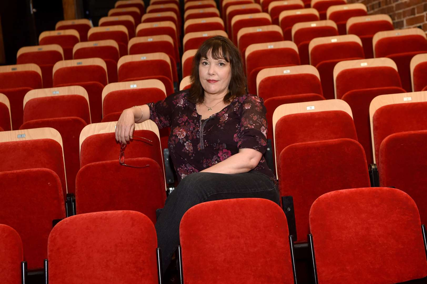 The Sudbury Quay Theatre is launching a new online project, which will enable the public to watch a range of performances and shows, while taking part in a series of virtual events by posting their own videos....Pictured: Manager Sharon Buckler....PICTURE: Mecha Morton .... (36764585)