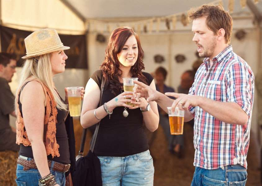 The Sausage and Beer Festival at Jimmy's Farm, in Suffolk ANL-150630-152638001
