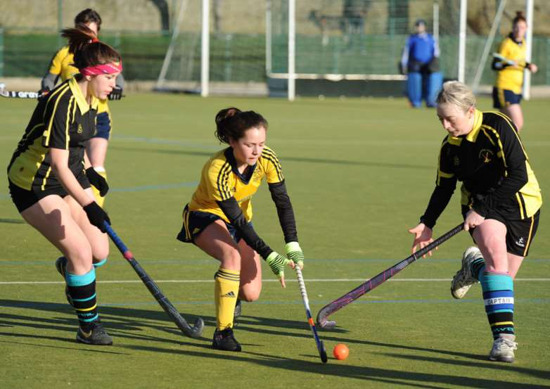 Haverhill II skipper Nicole Bailey (right) in action against Newmarket II earlier this season. Picture: Mark Westley