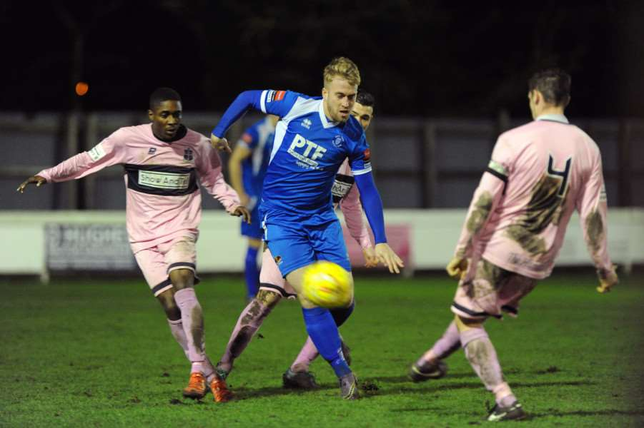 FOOTBALL - Bury Town v Dulwich Hamlet in the FA Trophy''Pictured: Craig Nurse ANL-151213-184526009