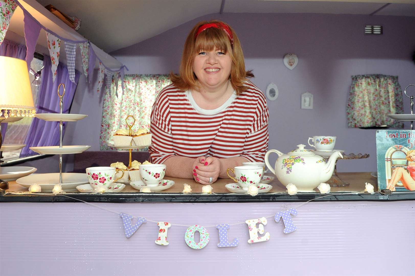 Nicola Littlejohn, who almost died from a brain haemorrhage after giving birth to her son 12 years ago, has fought her way back to health and is now running own business baking cakes and has just launched her own mobile tearoom in a caravan.....PICTURE: Mecha Morton... (11751248)