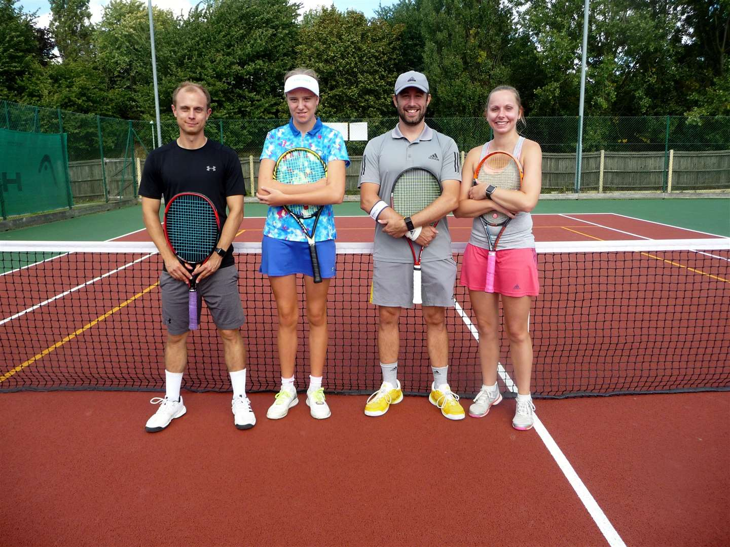 Josh Dashwood, Keri Tobin, Adam Fowle & Abi Cartwright-Thomas at the Haverhill Tennis Club's annual tournament finals day (4121794)