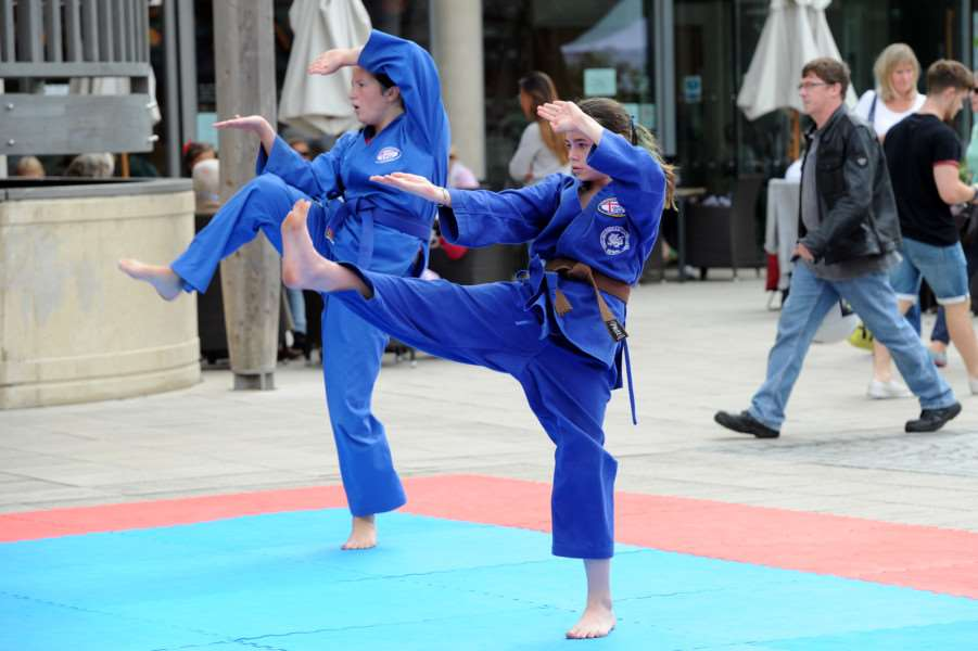 Northgate Karate demonstration at the Arc ANL-160509-082808009