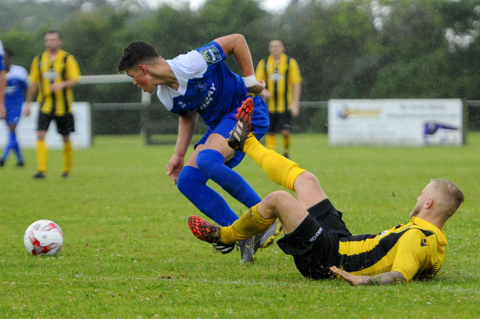 Ross Crane in action for Bury Town at Debenham LC on SaturdayPicture: Mark Bullimore