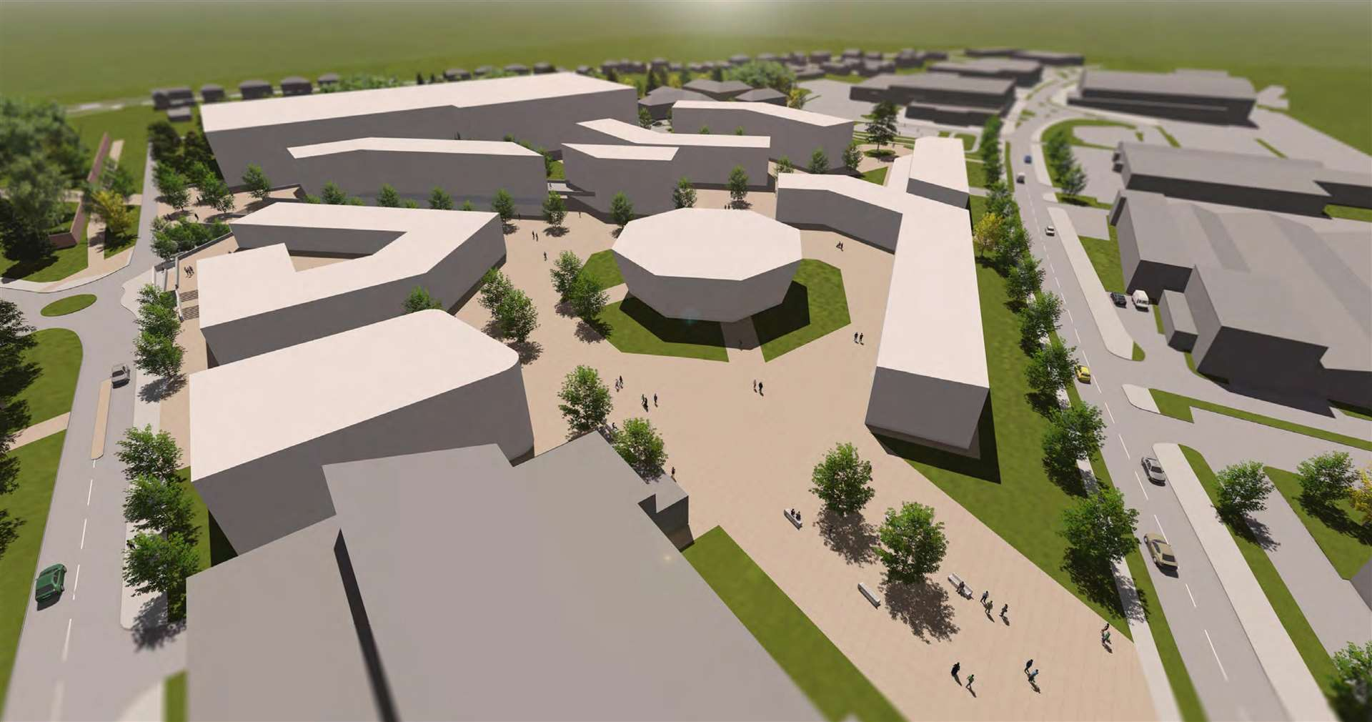 Plans for the public service village in Western Way, Bury St Edmunds. Picture: Pick Everard. (4845789)
