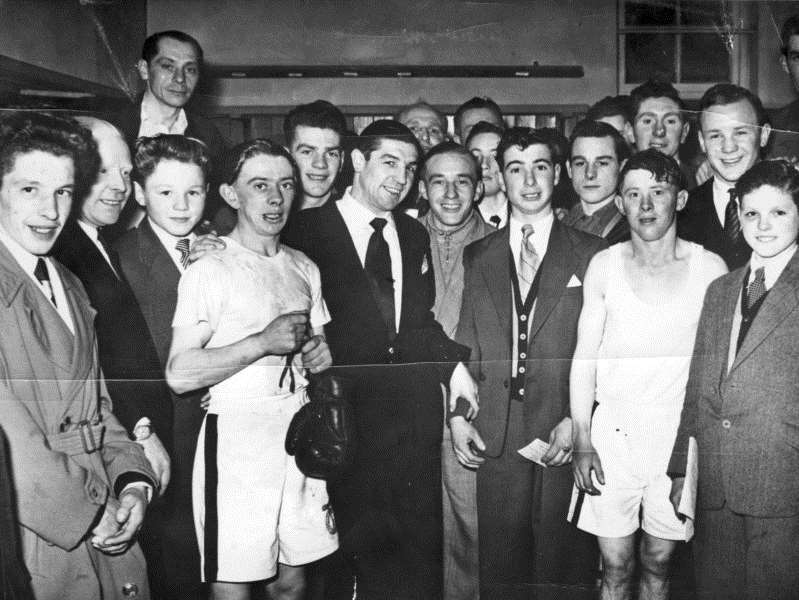 The stable lad who became an Olympic boxing champion ... Terry Spinks who worked for trainer Marcus Marsh with Balfour Declaration