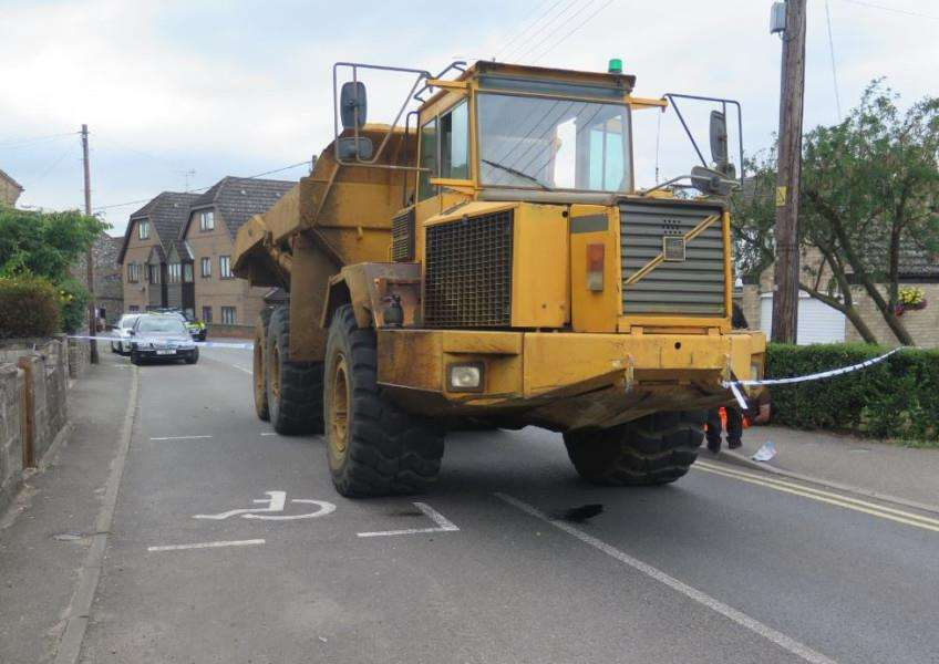 The dumper truck, photo courtesy of Norfolk Police