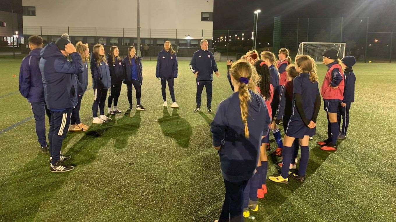 The Ipswich Town Community Trust delivering a girls football sessionPicture: ITFC (43150333)