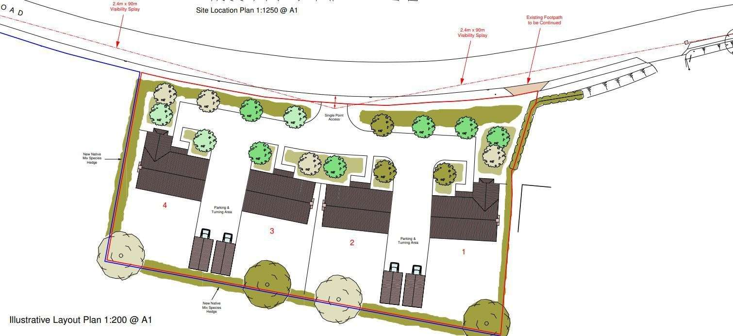 The design as seen on the council's planning portal