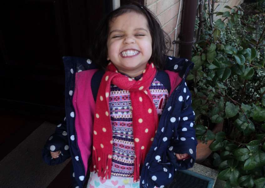 ALWAYS SMILING: Rosa Simon, 3, from Hadleigh who died after being hit by a vehicle near her home in Canterbury Gardens. ANL-140107-142036001