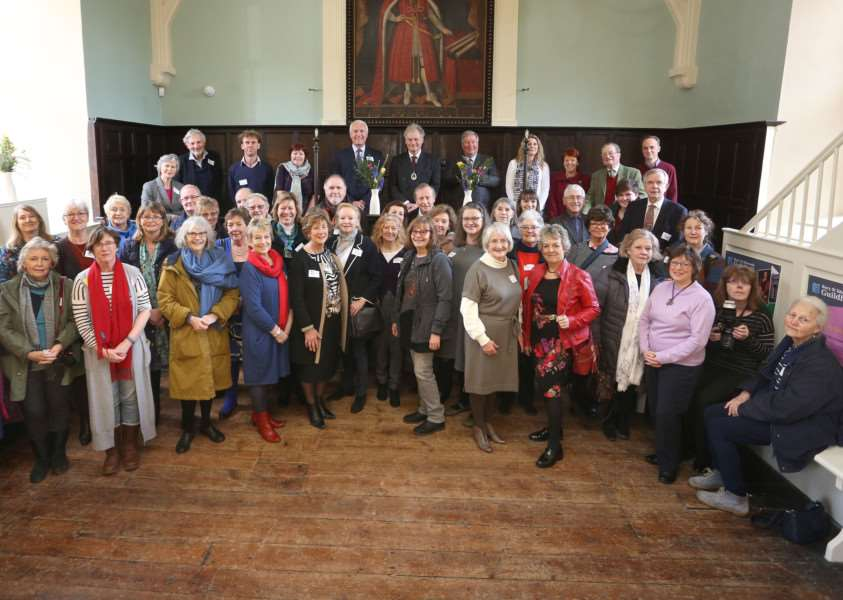 The High Sheriff of Bury St Edmunds joins volunteers at a Volunteer Vote of Thanks event at The Guildhall.'Pic - Richard Marsham