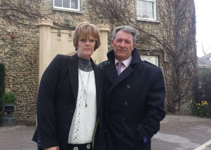 Diane Denyer and Glyn Edwards, the famnily of 'vulnerable' Martin Denyer, hope lessons will be learned from his death ANL-160704-102853001