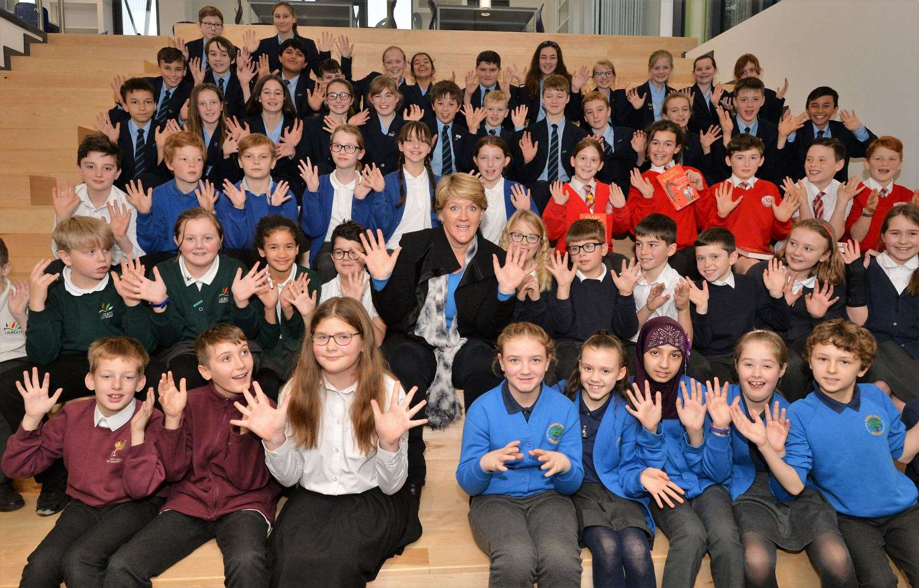Clare Balding opens Newmarket Academy's state-of-the art new library (24980832)